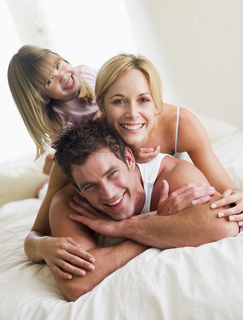 Famille heureuse en Espagne