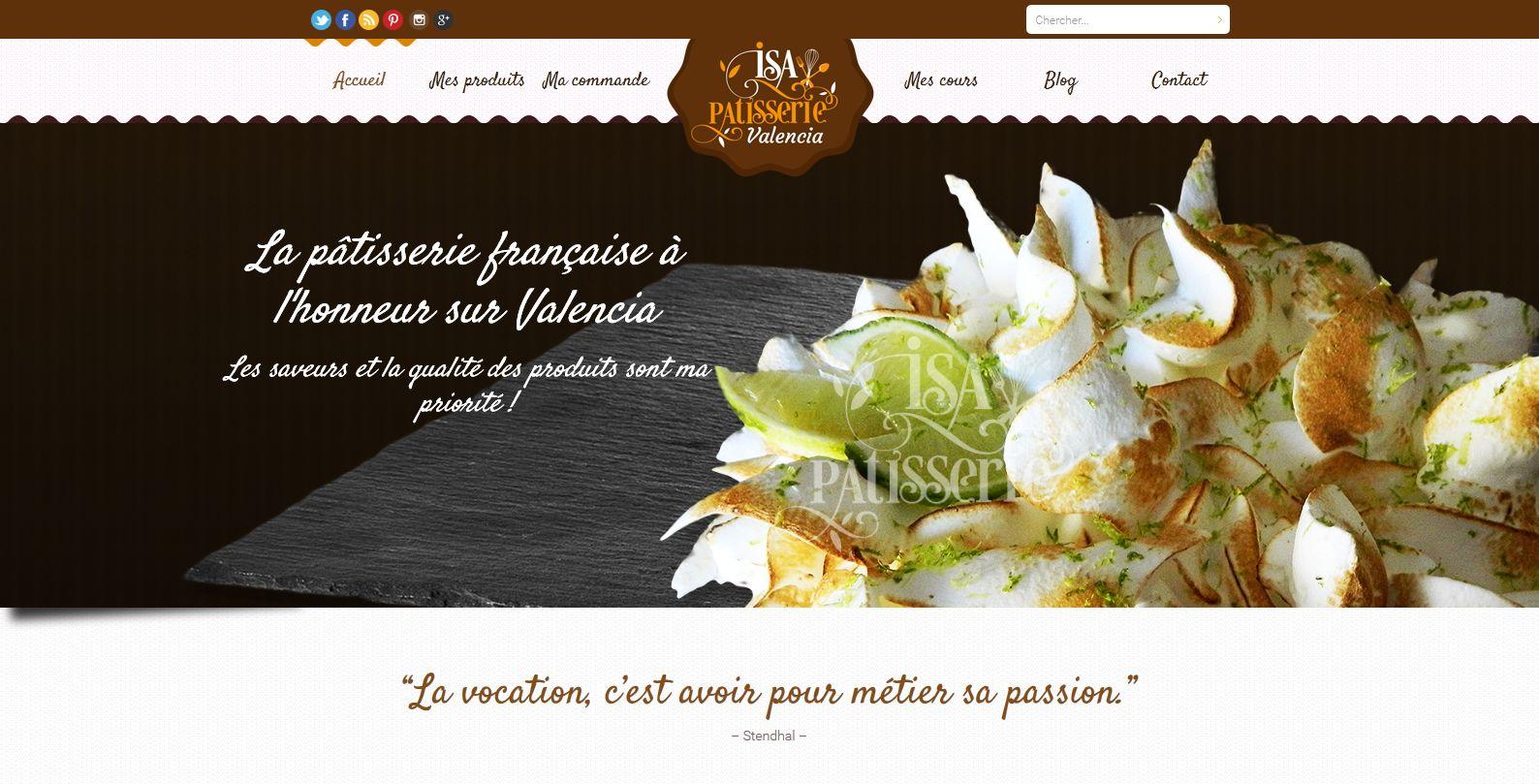 Page d'accueil du site isa-patisserie.com