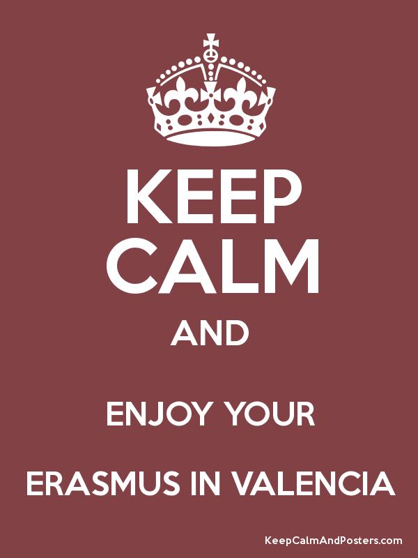 Keep Calme and Enjoy Erasmus in Valencia