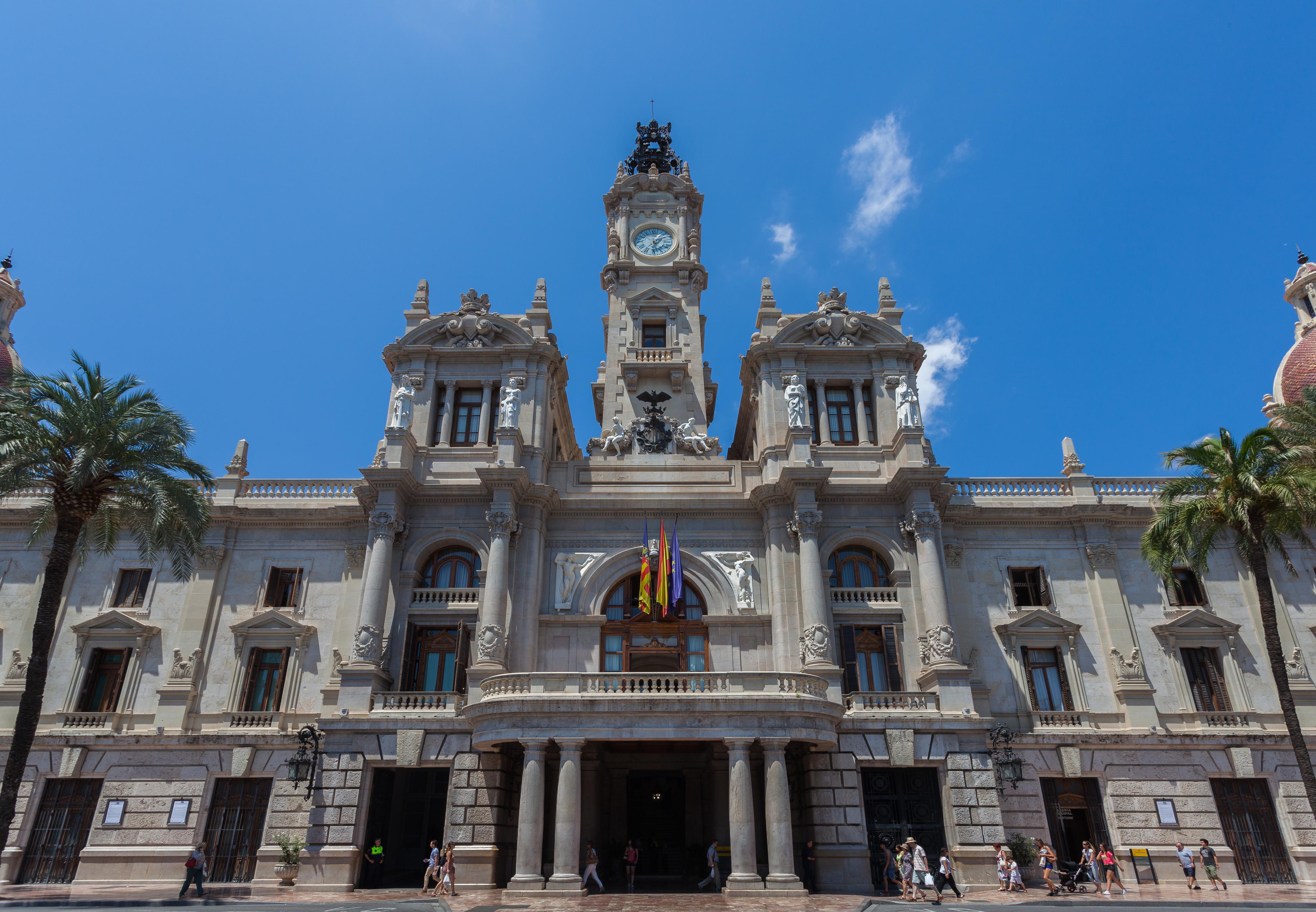 L'hôtel de ville de Valencia