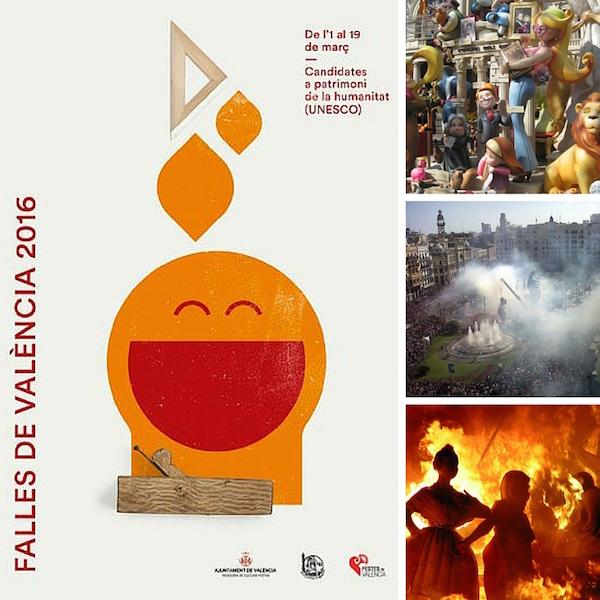 Affiche des Fallas 2016 de Valencia