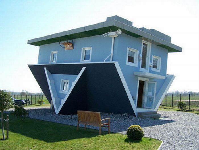 Une maison sans dessus dessous
