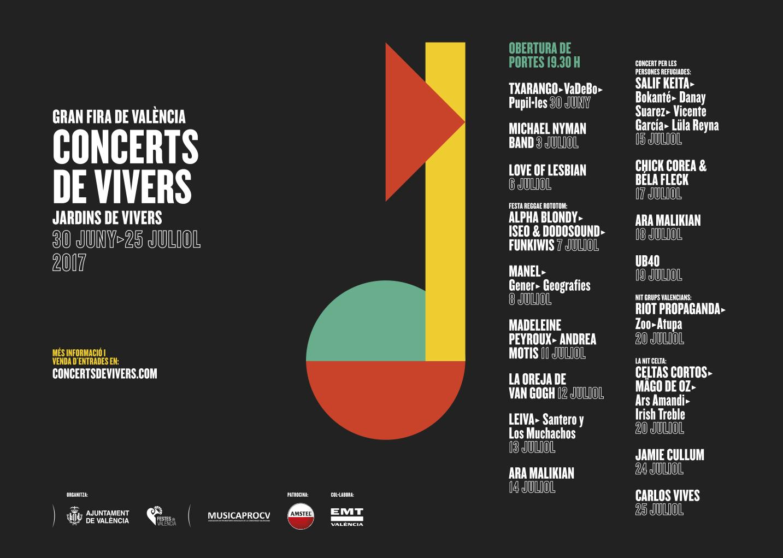Programmation 2017 des Concerts de Viveros
