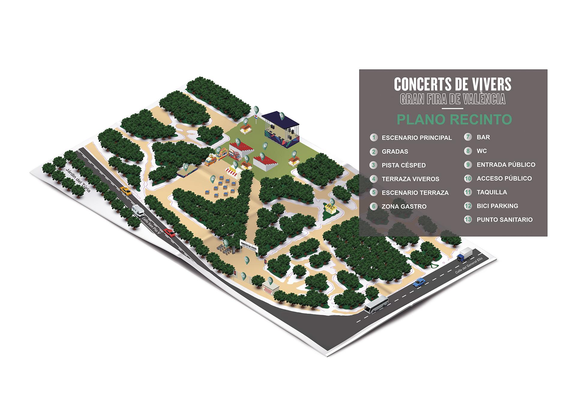 Aménagement des Jardins de Viveros pour les concerts