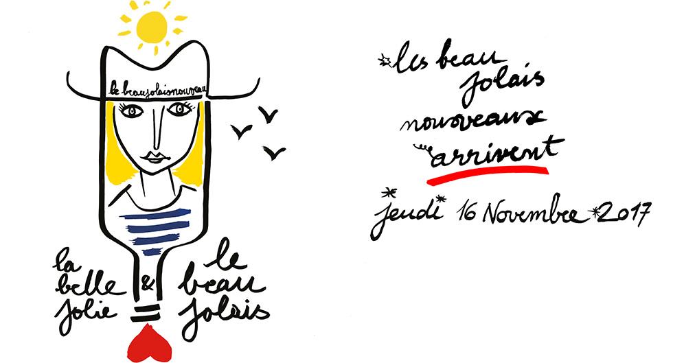 Affiche officielle du beaujolais nouveau 2017