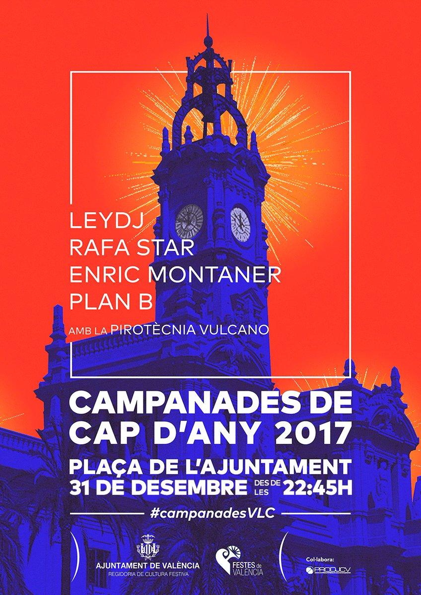 affiche nochevieja 2018 Valencia
