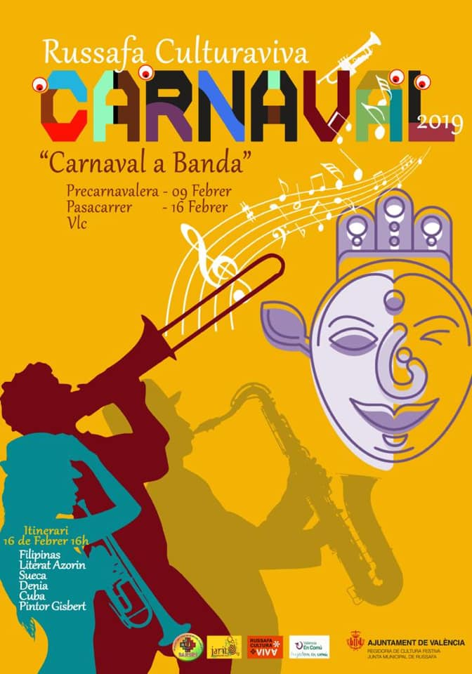 Affiche Carnaval Ruzafa 2019