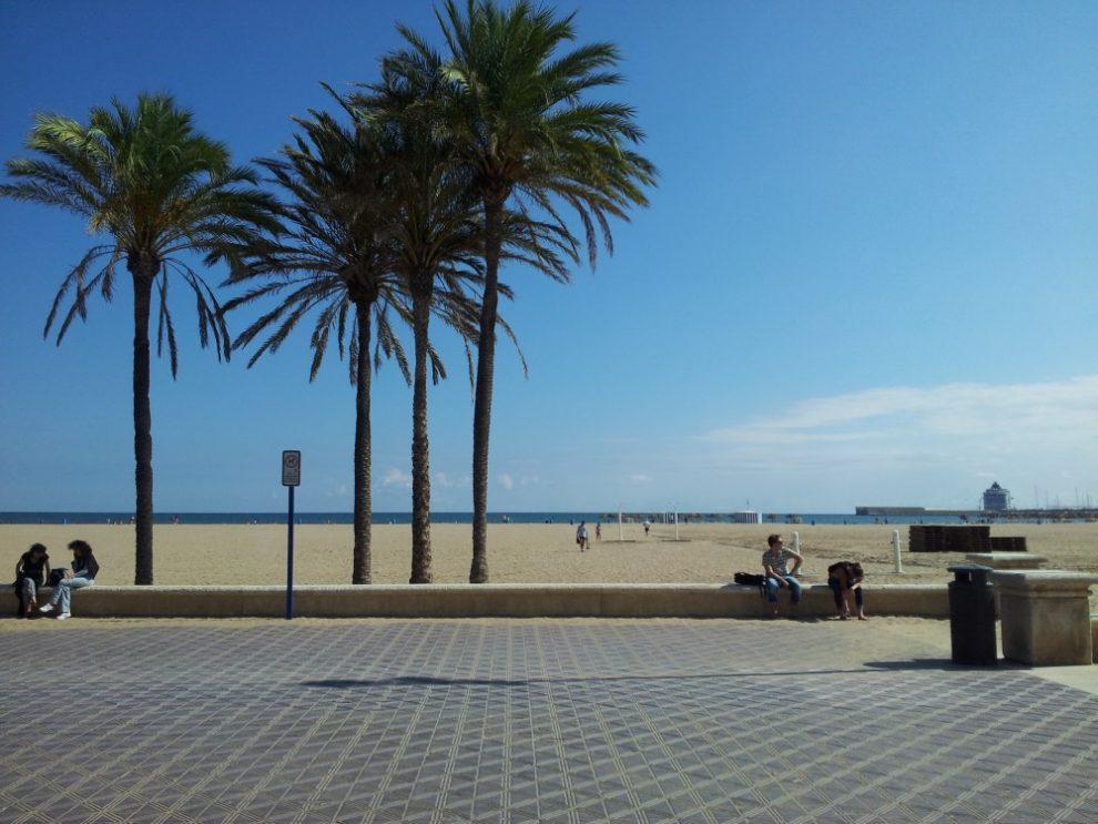 Plage de Malvarrosa à Valence
