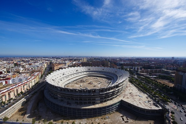 Le nouveau stade en construction de Valence