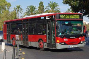 Bus rouge de Valence