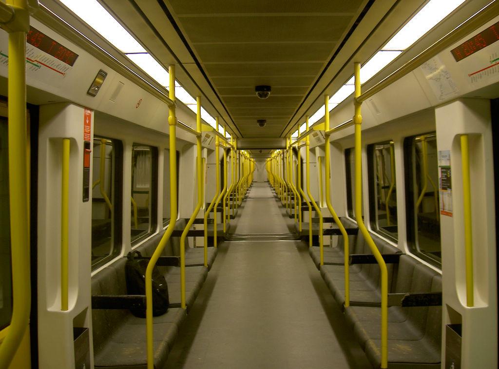 Interieur rame de métro