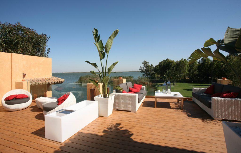 La terrasse du Nou Raco près de Valence