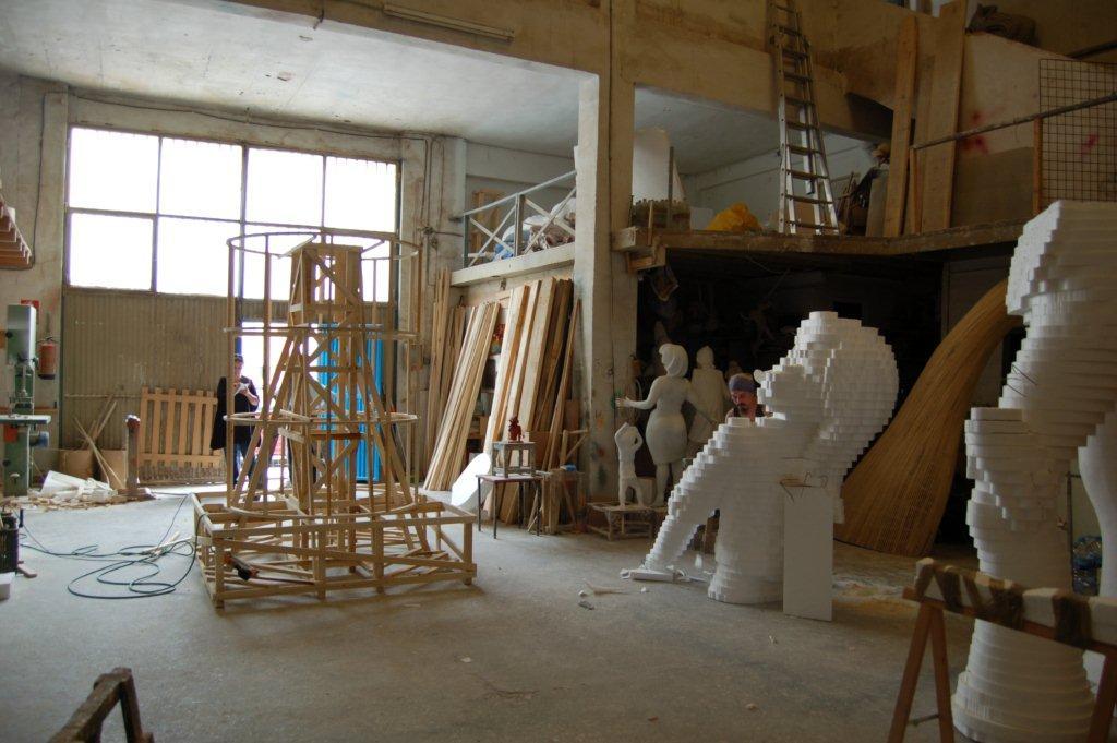 Atelier de Fallero à Valencia