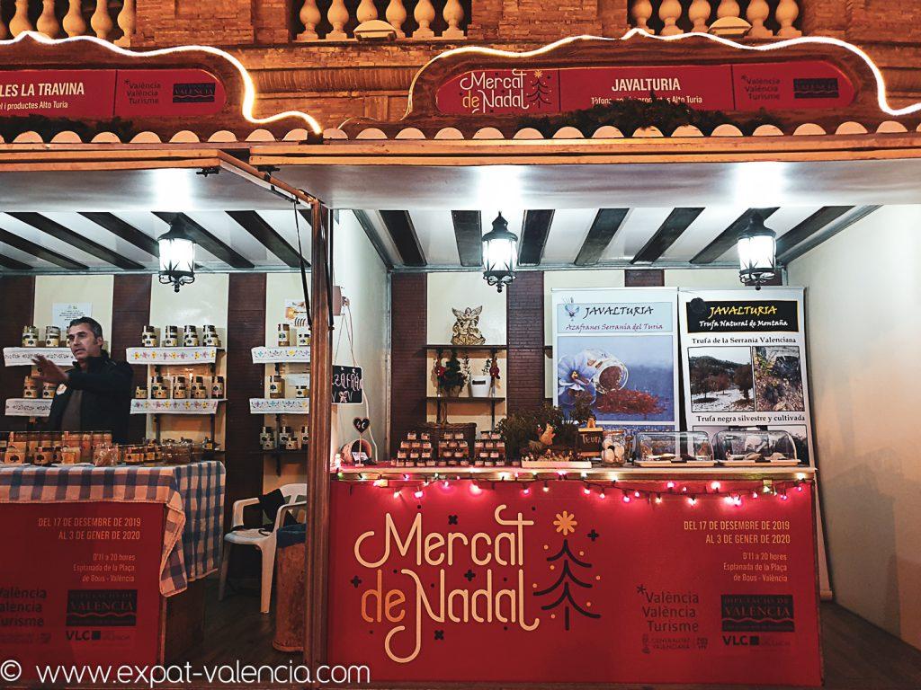 Stand du Mercat de Nadal (Plaza de Toros) à Valencia (Espagne)