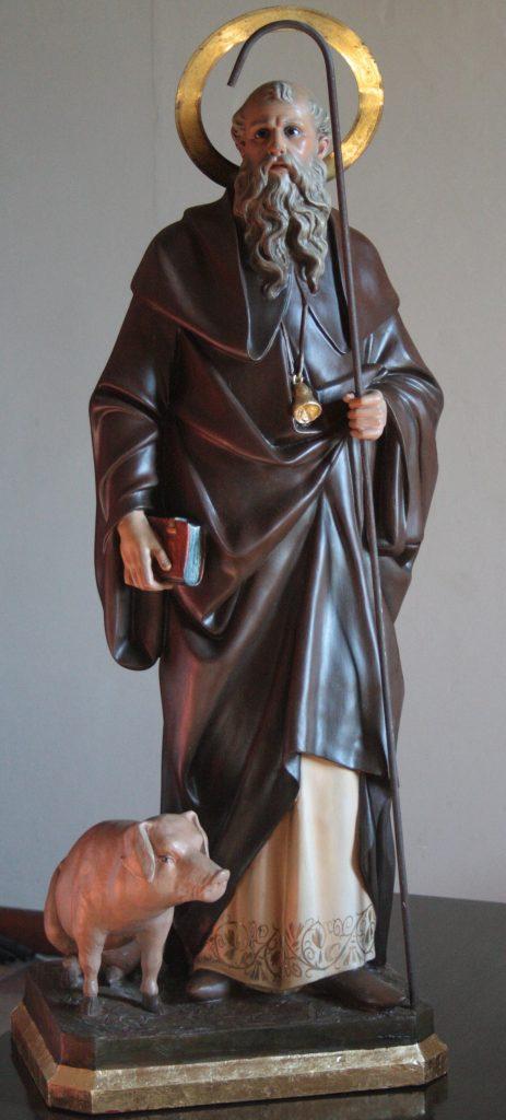 Statue de Saint Antoine le Grand et son porcelet.