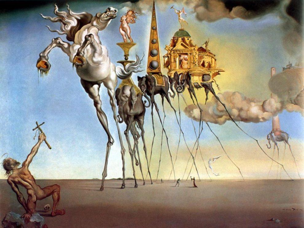 Tableau de Dali représentant Saint Antoine Abad
