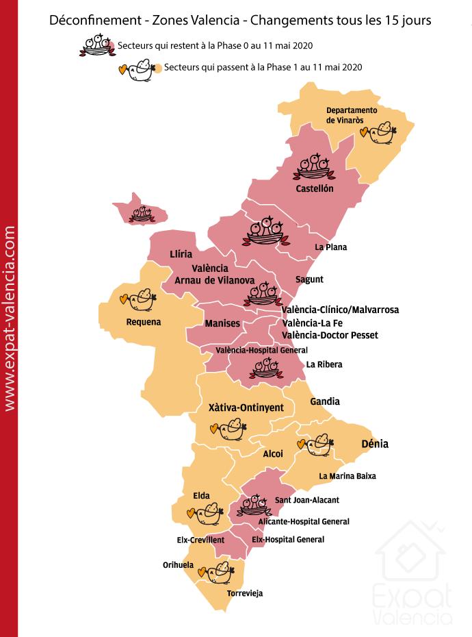 Carte du déconfinement par étapes dans la Communauté Valencienne
